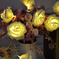 20 LED 3 Colors Rose Flower String Lights Fairy Party Wedding Garden Christmas Decoration [8401386375]