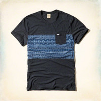 Panel Print Pocket T-Shirt