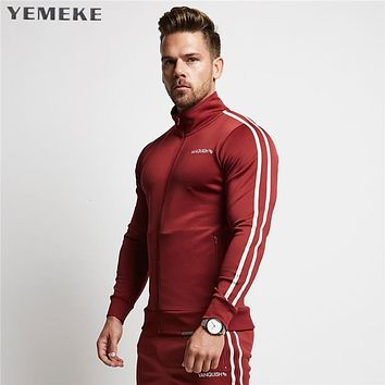 Men Casual Hoodies Fitness Clothing Tracksuits Men Bodybuilding Sweatshirt Muscle Hooded Jackets