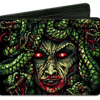 Escape The Fate Men's Medusa Face Bi-Fold Wallet