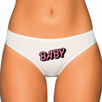 Bubble Baby Panties- Bubble Text Writing - tumblr daddy's little girl - Custom Underwear Panties Thongs Undies Lingerie