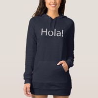 Hola Spanish Hello Navy Women's Jumper Dress