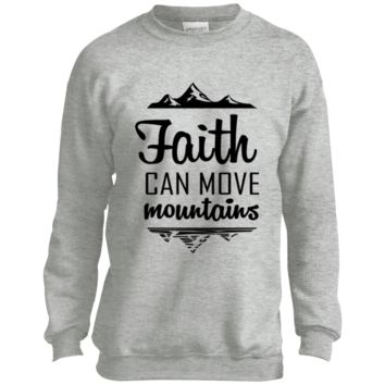Faith Can Move Mountains Youth Crewneck Sweatshirt