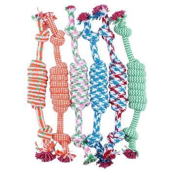 Chew Knot Cotton Bone Rope Dog Toy