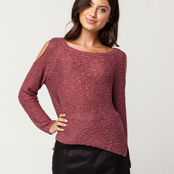 SKY AND SPARROW Cold Shoulder Womens Sweater | Pullovers