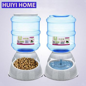 Huiyi Home 3.5L Large Automatic Pet Feeder Drinking Fountain For Cats Dogs Plastic Dog Food Bowl Pets Water Dispenser ENI001