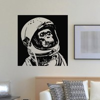 Wall Decal Vinyl Sticker Animal Monkey Astronaut Space Decor Sb971