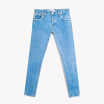 Skinny Stone Babe Button Fly Jeans