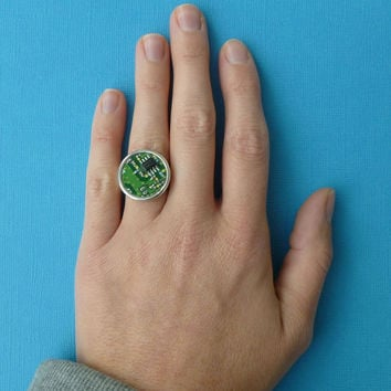totally awesome circuit board ring recycled jewelry
