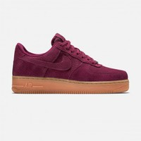 Nike Air Force 1 '07 Suede (Deep Garnet/Gum Medium Brown-Metallic Gold-Deep Garnet)