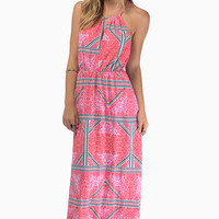 Mink Pink Eastern Aztec Maxi Dress $106