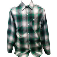 Green Long Sleeve Flannel Shirt