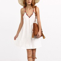 Summer western style fashion sexy hollow out V-neck  woman's Casual Spaghetti strap dress
