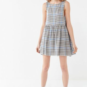 Urban Renewal Remnants Plaid Babydoll Dress | Urban Outfitters