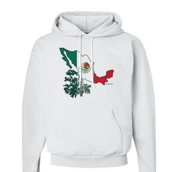Mexican Roots - Mexico Outline Mexican Flag Hoodie Sweatshirt  by TooLoud
