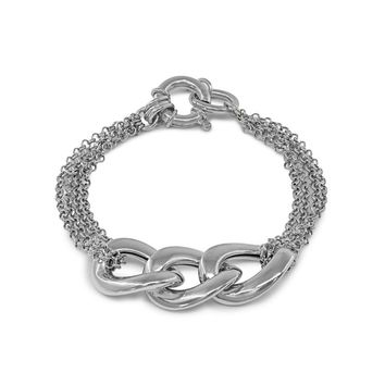 Sterling Silver Veneto Mesh Links Bracelet