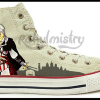 Assassin's Creed Ezio Hand Painted Converse All Star Shoes.