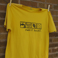 Homebrew Beer Tshirt block print short sleeve by stolenmoments
