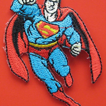 SALE~ 2 pcs Iron-on Embroidered Patch Superman 2.75 inch