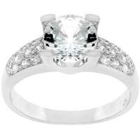 Classic Clear Engagement Ring, size : 10