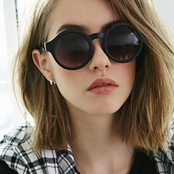 Round Metal-Trimmed Sunglasses