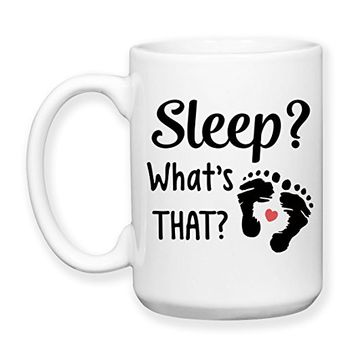 Coffee Mug, 15 oz, by Groovy Giftables - Sleep? What's That? 001