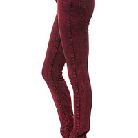 The Tight Slim Jeans in Remake Red