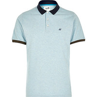 River Island MensBlue Boxfresh logo chest polo shirt