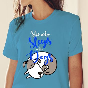 She Who Sleeps With Dogs Short-Sleeve T-Shirt