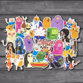 29Pcs/Lot American Cartoon Drama Adventure Time BMO Sticker For Kids Toy Luggage Skateboard Phone On Laptop Wall Guitar Stickers