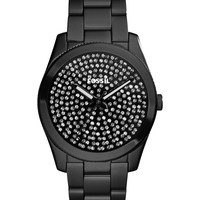 Fossil Women's Perfect Boyfriend Black Ion-Plated Stainless Steel Bracelet Watch 39mm ES3645