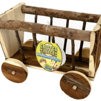 Critter Ware Woodland Wagon Sm Pet Chew/Hideout