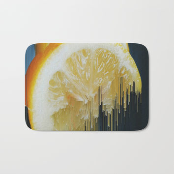 Lemony Good Glitch Bath Mat by duckyb