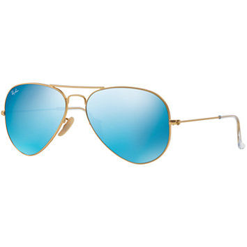 Ray-Ban ORIGINAL AVIATOR MIRRORED Sunglasses, RB3025 55 | macys.com