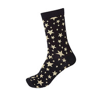 River Island Womens Navy star print ankle socks