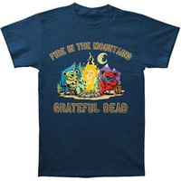 Grateful Dead Men's  Fire In The Mountain T-shirt Blue