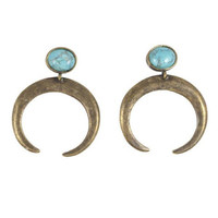 The Crescent Earring / Antique Brass (view more colors) - The 2 Bandits