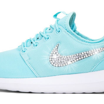 Nike Roshe Two - Crystallized Swarovski Swoosh - Tiffany Blue