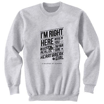 5 sos sweater Gray Sweatshirt Crewneck Men or Women for Unisex Size with variant colour