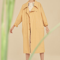 Oversized LightWeight Trench Coat-Beige
