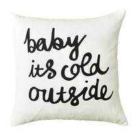 Baby it's Cold Outside Christmas Holidays Festive Season Throw Cushion