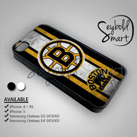 Boston Bruins Hockey Logo - iPhone 4/4s/5 Case - Samsung Galaxy S3/S4 Case - Black or White