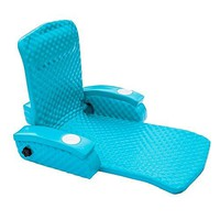 Eclipse Collection Super Soft Adjustable Pool Recliner - Made in the USA (Tropical Teal)