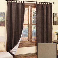 Sets of 2 Insulated Sueded Curtains