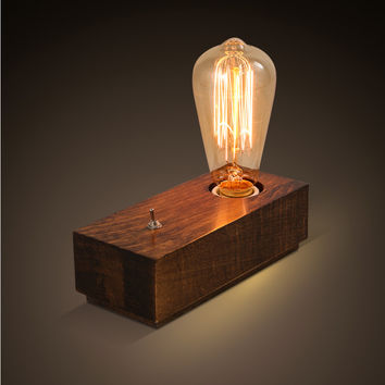 European Vintage Style Desk Lights Decorative Bedroom Bedside Light Retro Edison Wood Table Lamp