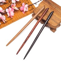 New Hair jewelry Hair sticks headbands for women lady hairpins Vintage sandalwood coiled hairwear Ethnic hair accessories clips