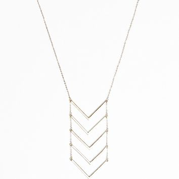 Long Arrow Pendant Necklace