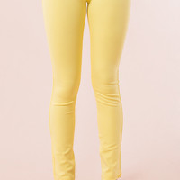 Jegging Pants in Yellow