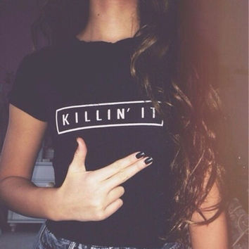 Ladies Killin' it short sleeve t-shirt
