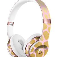 Pink Gold Flaked Animal v1 Full-Body Skin Kit for the Beats by Dre Solo 3 Wireless Headphones